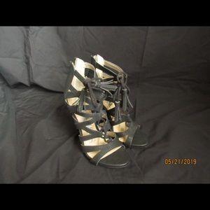 Black fashionable high heels